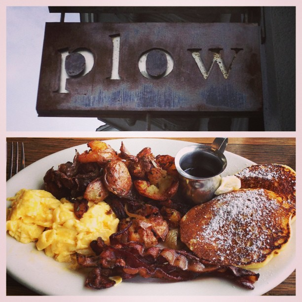 Traditional post-finals brunch at Plow, SF.