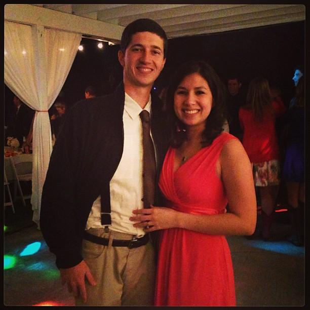 My handsome wedding date.