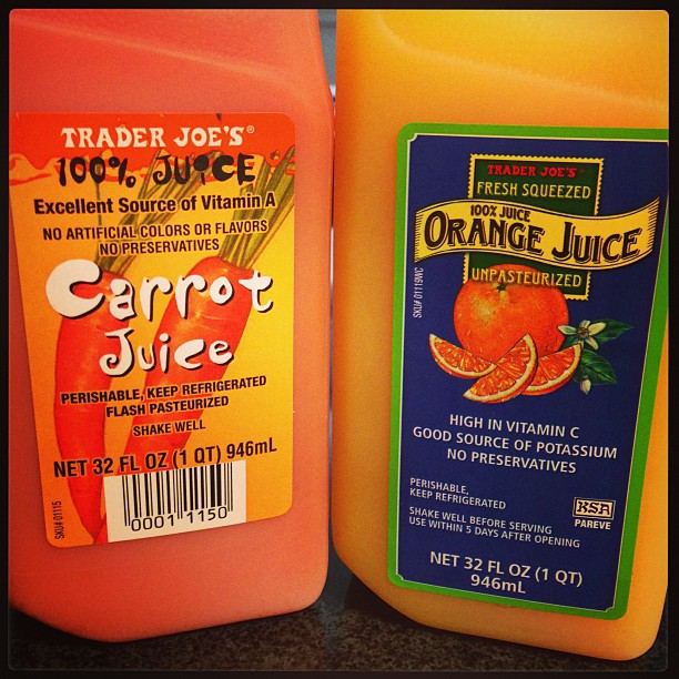 Step 1: buy these two juices of the gods. Step 2: mix in equal parts. Step 3: DRINK ALL THE JUICE.