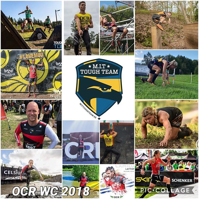 6 days to go! #ocrwc2018 Some of the members from Sweden representing them selfs, their team and their Nation. And not to forget their sponsors ☺️🏆