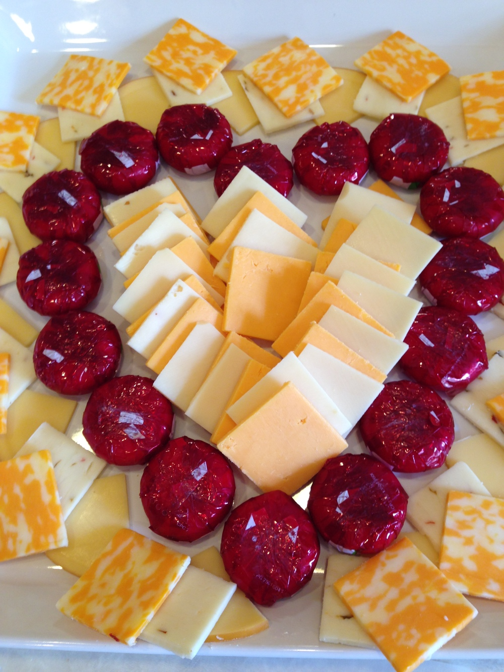 Heart Cheese Platter.