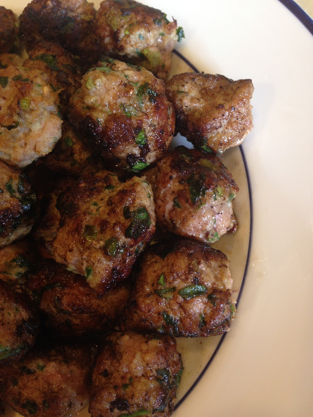 Pork and Spinach Gyoza Meatballs!