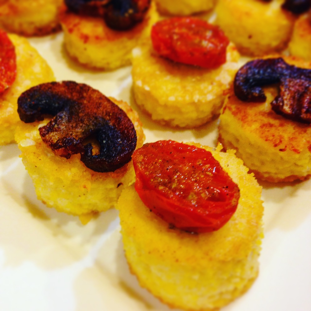 Coconut Polenta Appetizer Rounds