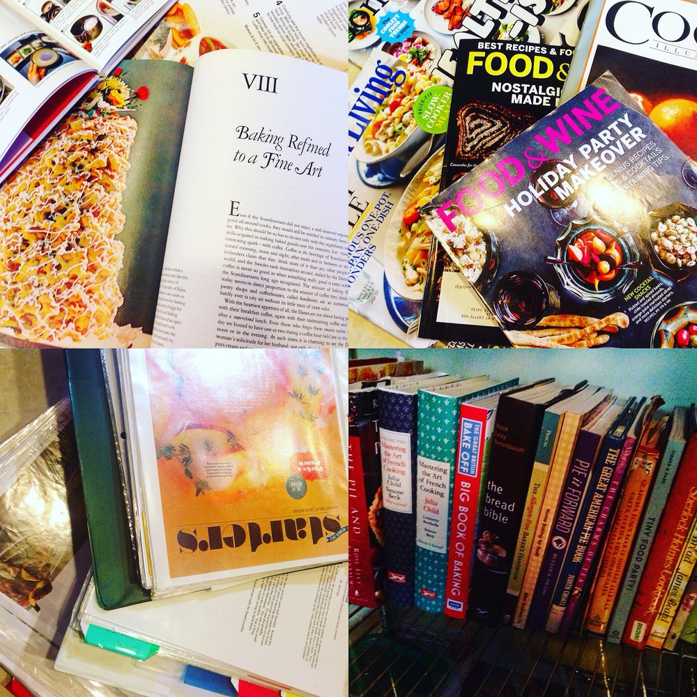 cookbooks food magazines and recipe notebooks