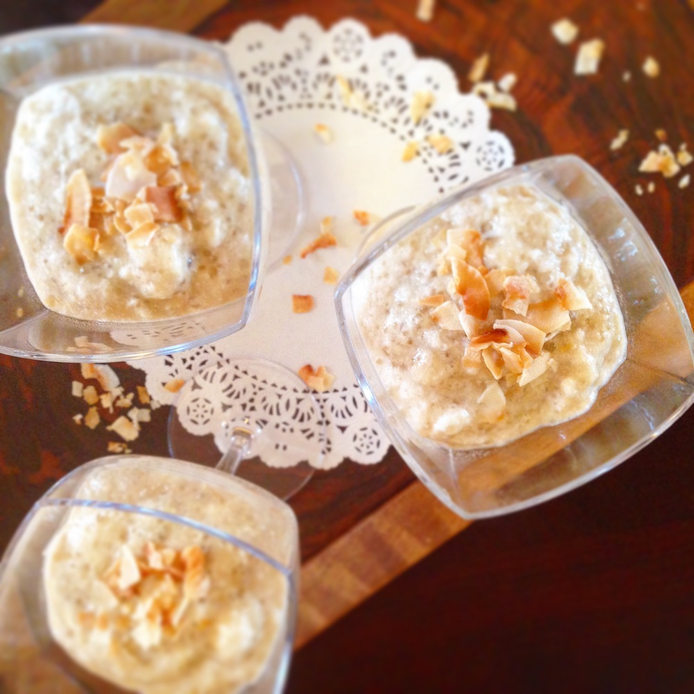 Coconut Honey Tapioca Cream