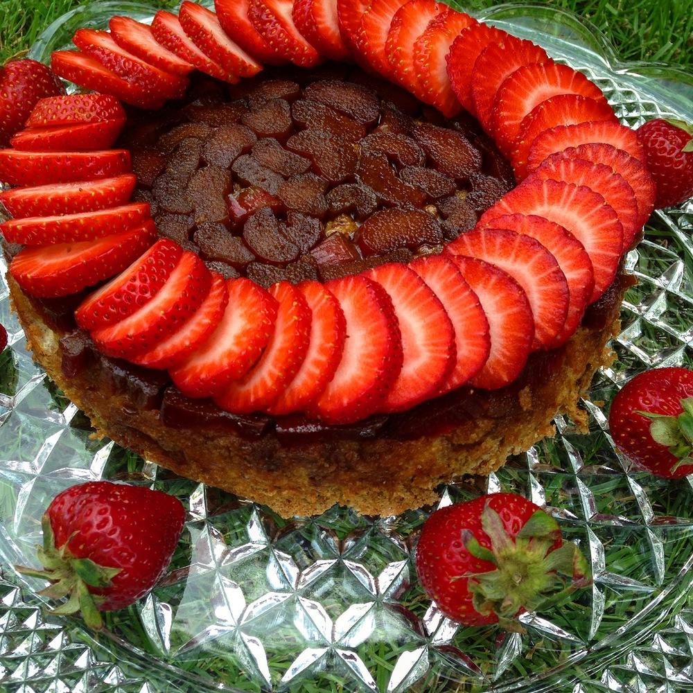 Paleo Cinnamon Rhubarb Upside Down Cake
