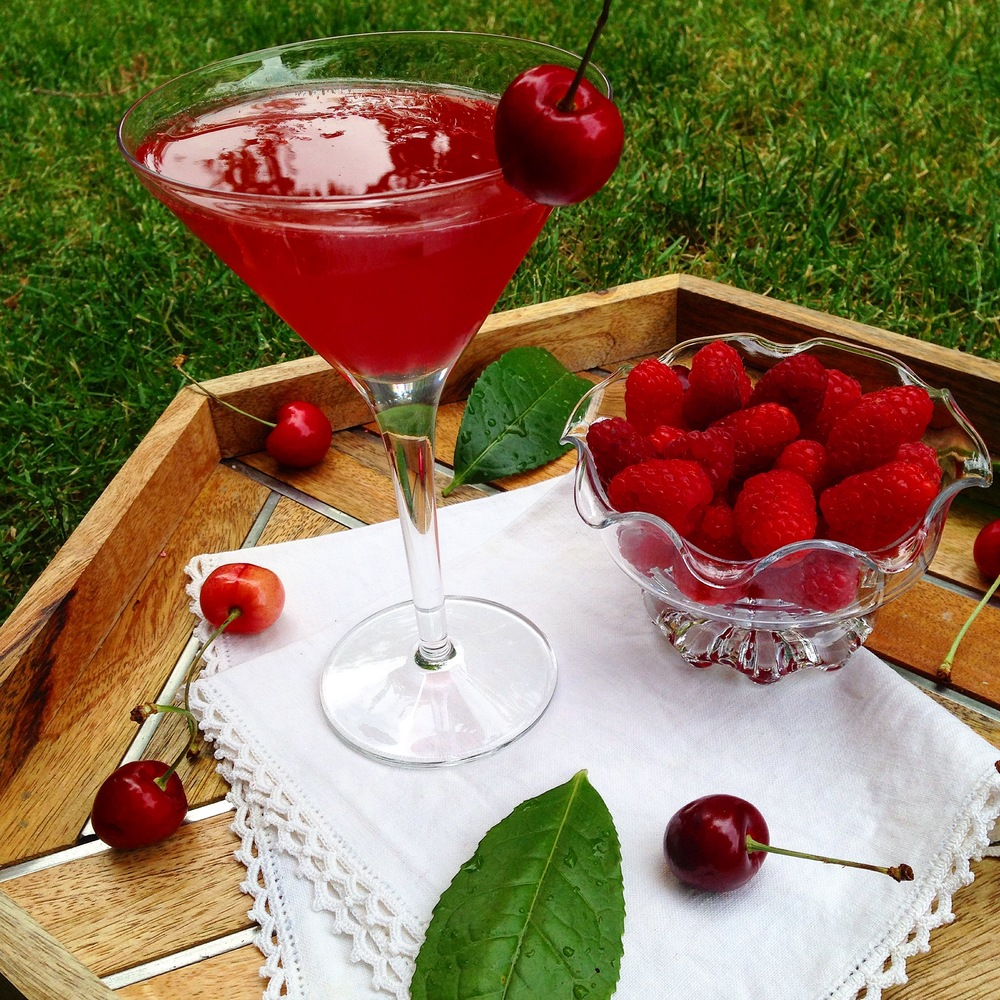 Fresh Raspberry Cherry Lime Mock Tails