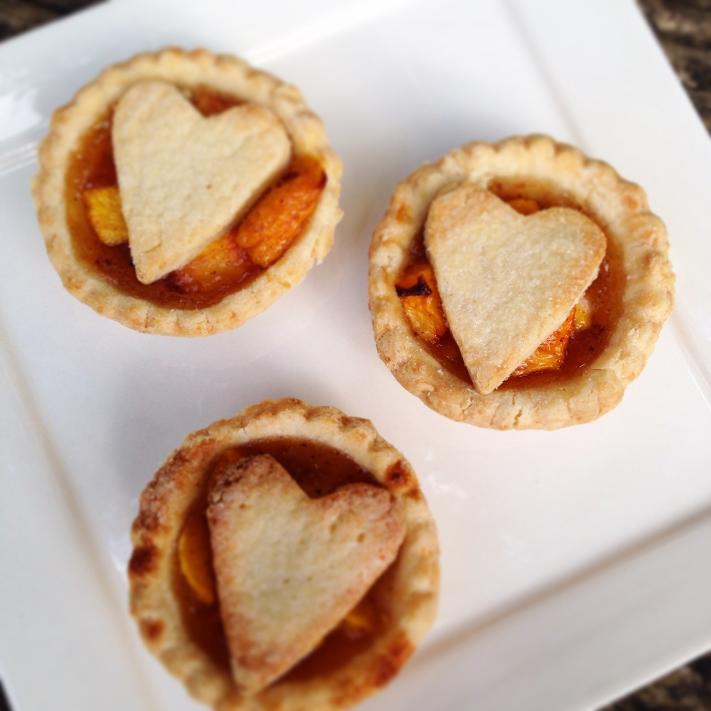 Spiced Honey Peach Mini Tarts