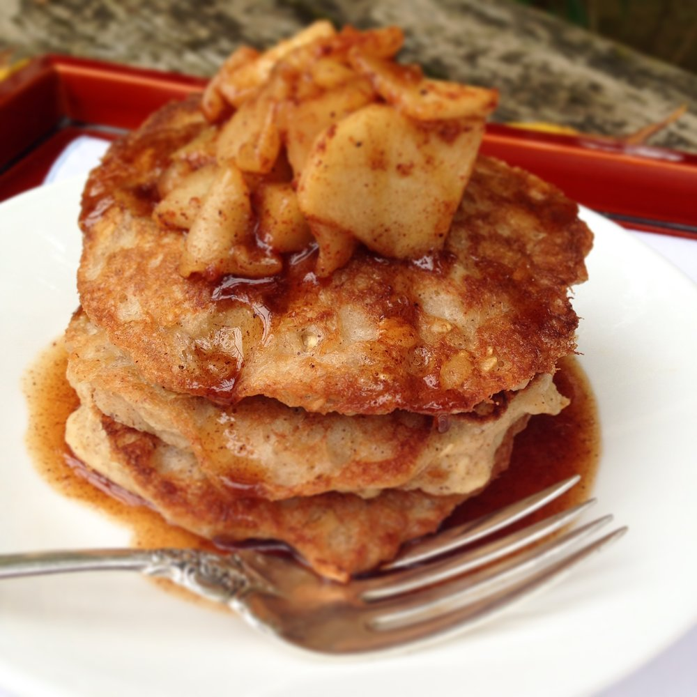 Apple Cider Cinnamon Oat Pancakes
