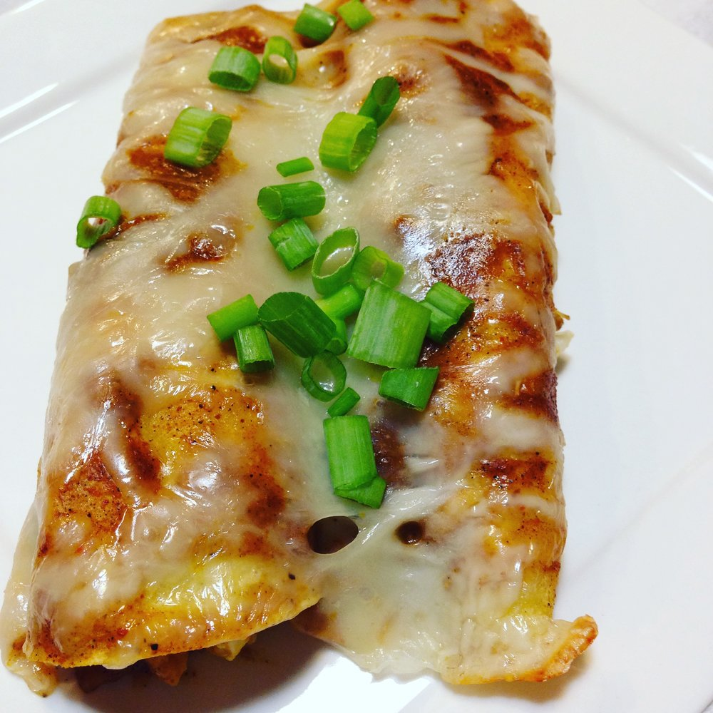 Gluten Free Turkey Pumpkin Enchiladas
