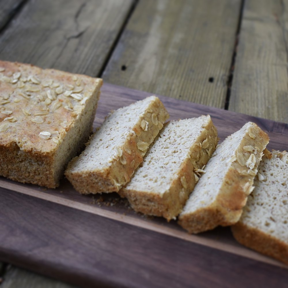 Gluten Free Soaked Oatmeal Bread
