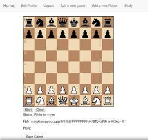 Chess app taking shape.