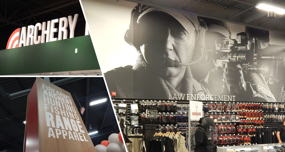 Interior Store Branding  Displays, Wall Coverings