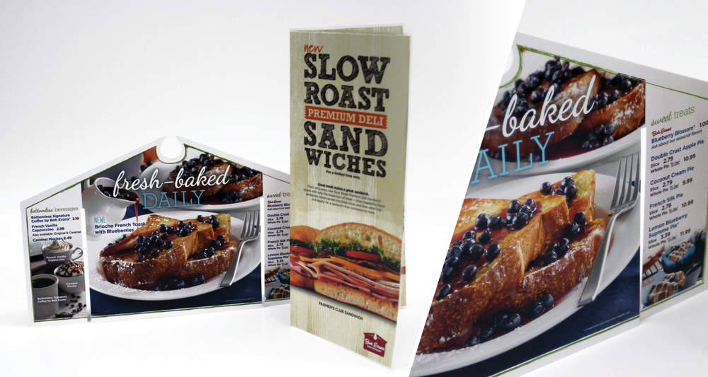Restaurant Promotions High Gloss Laminate, Die-Cut