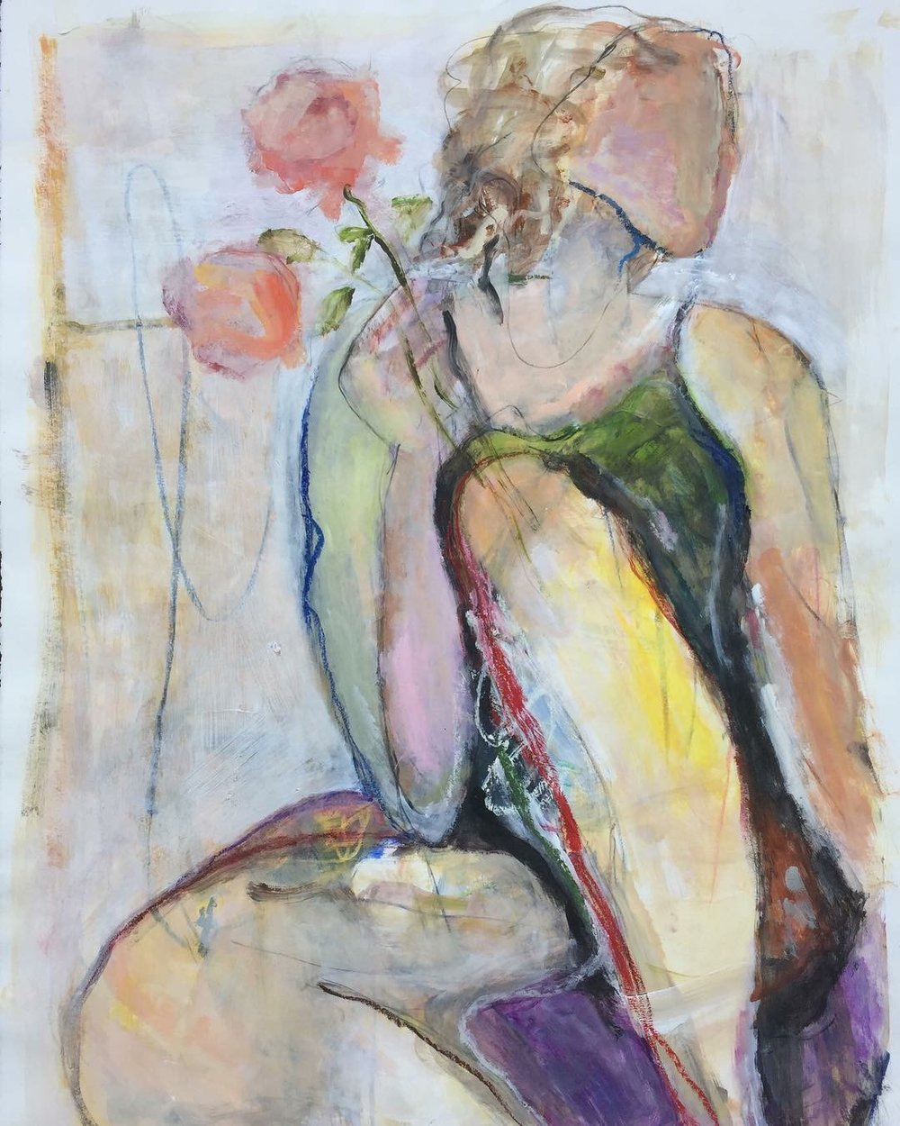 Figure with Roses