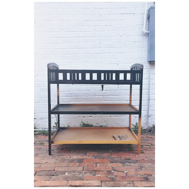 Can't wait to turn this old baby changing table into a bar cart this week. #BielProjects