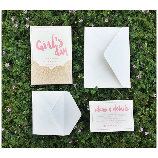 Can't wait to show you the finished design & setup of @aliwolfs upcoming baby shower! I couldn't pass up using this simple but perfectly crafted DIY invitation suite by @gartnerstudios for @brides magazine. #BielDesign #BielEvents #AlisGirlsDay #SimpleAndEasyIsntAlwaysBad