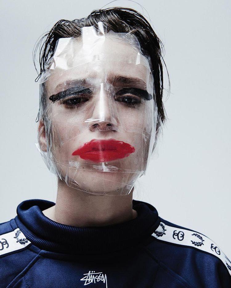taped makeup portrait