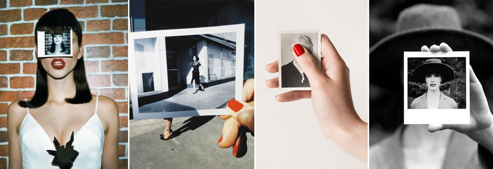 instant photo within a photo