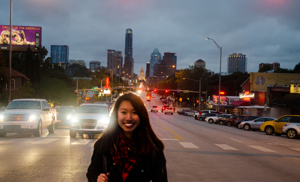 Clearly the view is the Beautiful Austin :P