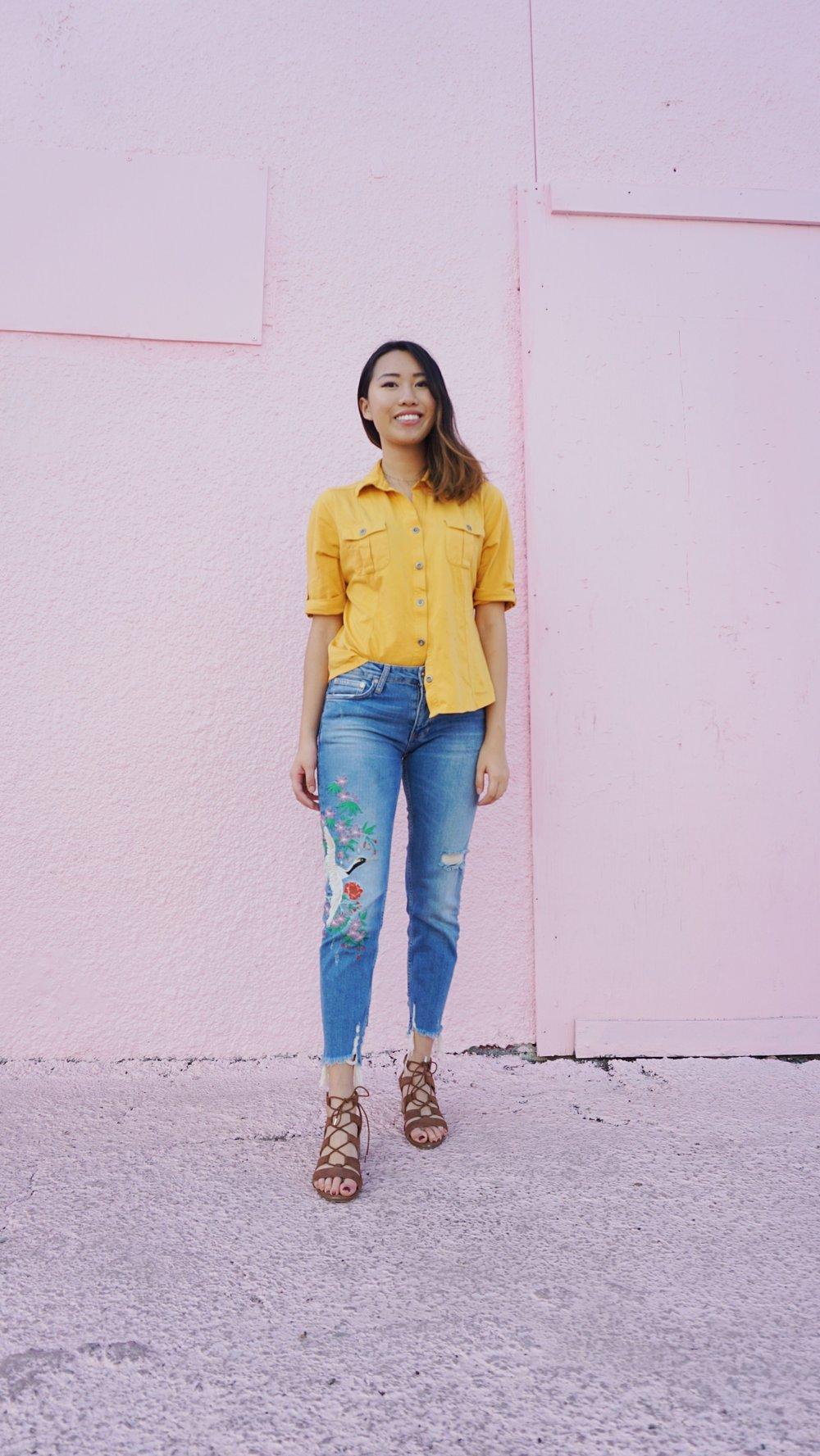 Jeans: Zara Denim, Shoes: Call it Spring