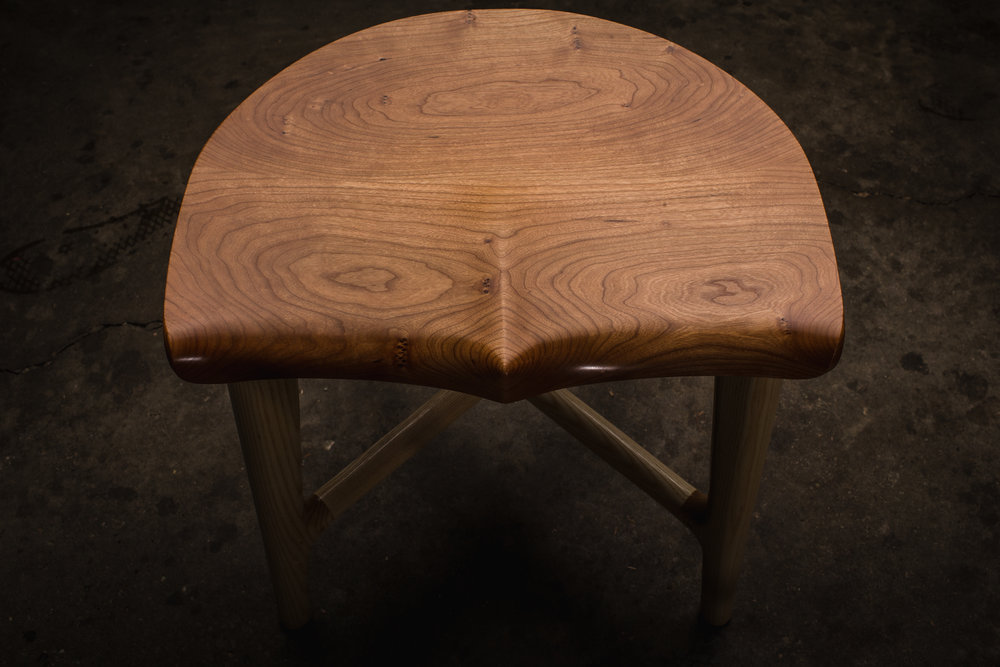 Bottomer stool by Kenton Jeske