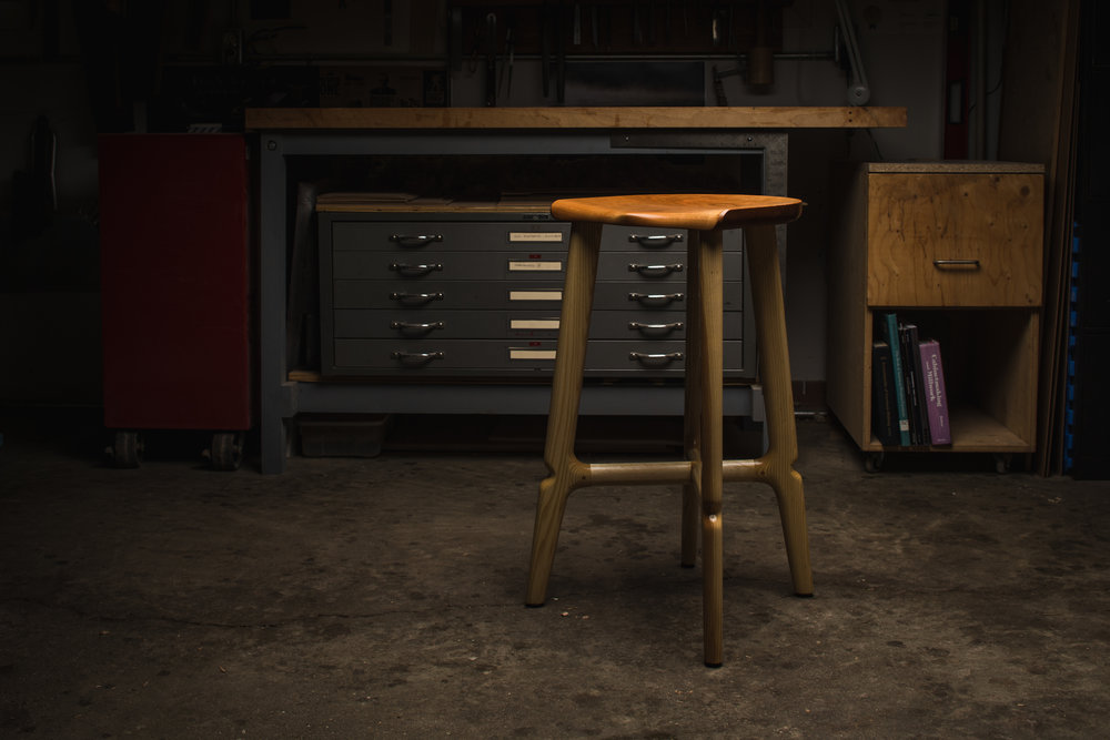 Tall stool by Kenton Jeske