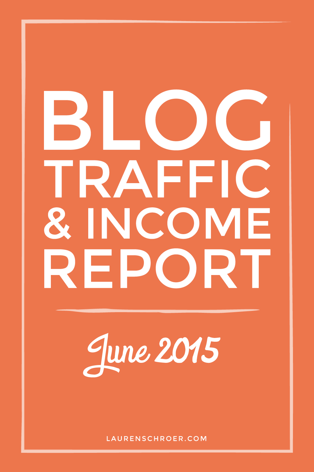 Blog Traffic and Income Report | June 2015 - laurenschroer.com