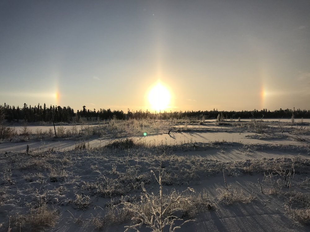 A photo by Emily Campbell-Burdett taken from her new home in the North West Territories.