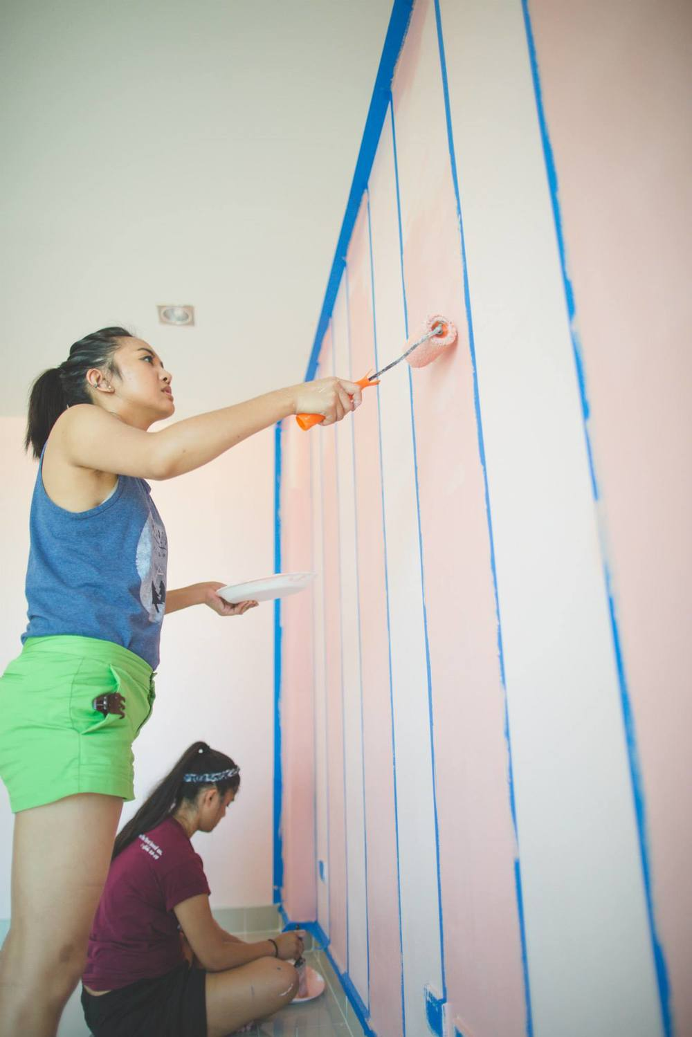 Painting and decorating the new community center in Thailand.