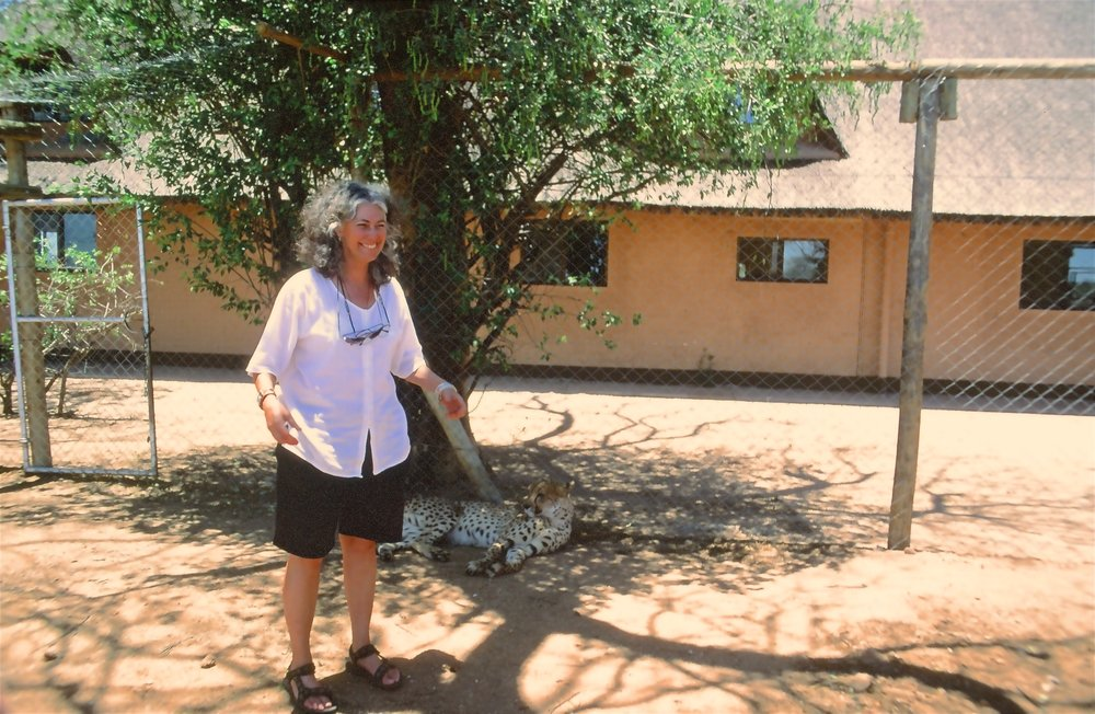 Dr. Laurie Marker, founder and director of the Cheetah Conservation Fund (CCF), Namibia.