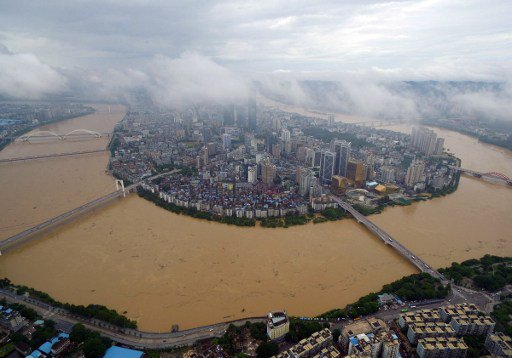 China's Liujiang River floods in July, 2016  ©AFP