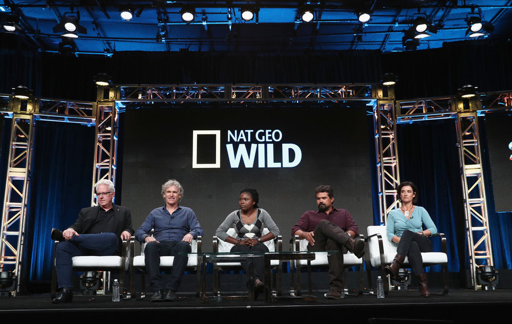 (L-R) Steve Winter, Bob Poole, Thandiwe Mweetwa, Brad Bestelink and Andy Crawford. ©NatGeo Wild