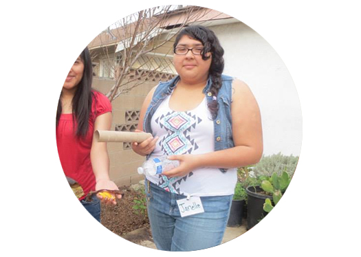 Janelle has moved on to focus on college at Santa Monica College.  Before that, she was helping manage our garden network at our WECAN site.