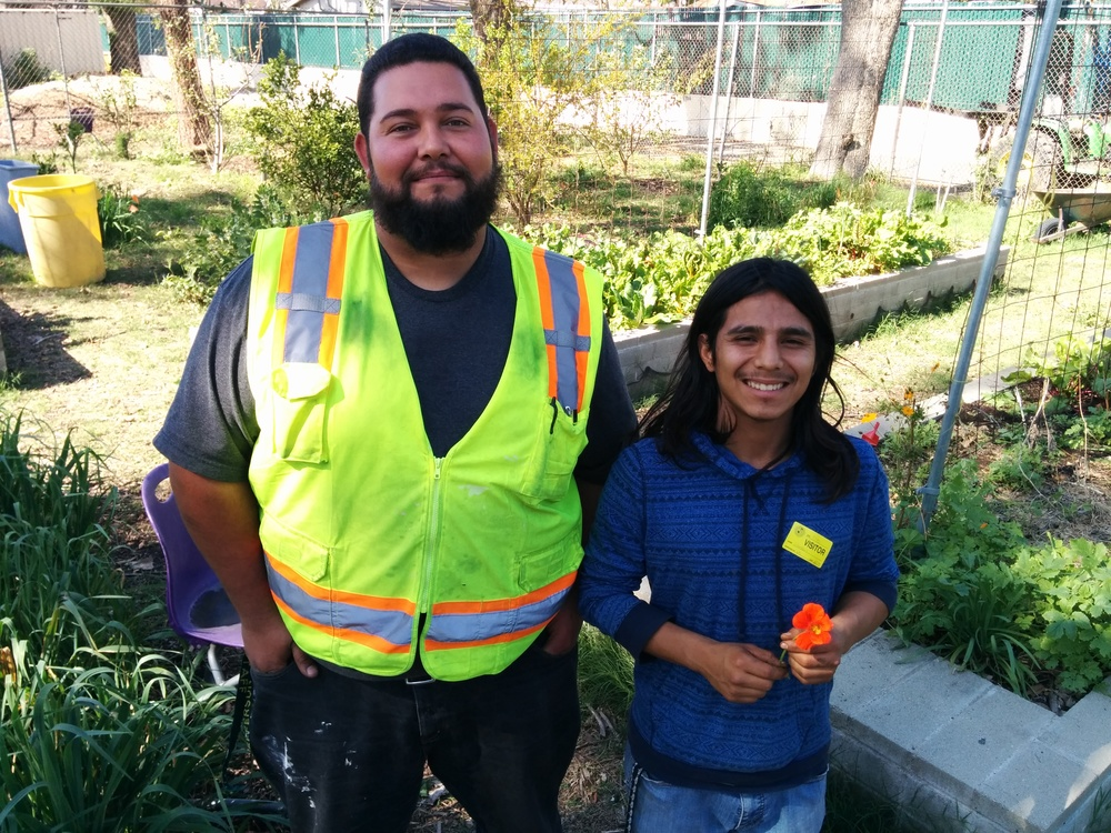 Jonathan our LAUSD maintenance and ops. guy now gets lemon sorrel and greek oregano from Jonathan, our Jefferson garden manager. He says his homemade marinara has never tasted better.