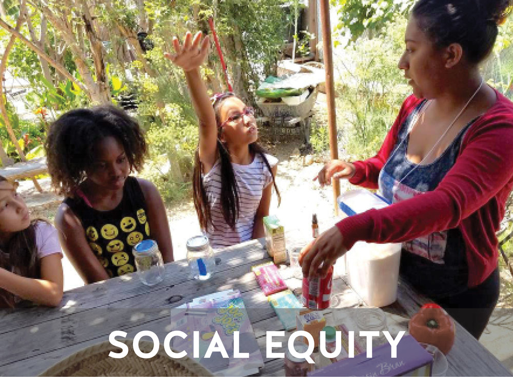 SOCIAL EQUITY   Our primary goal is to  offer  and create more training and employment opportunities for South LA youth so that they can compete with youth from other parts of LA or the country who have more opportunities.