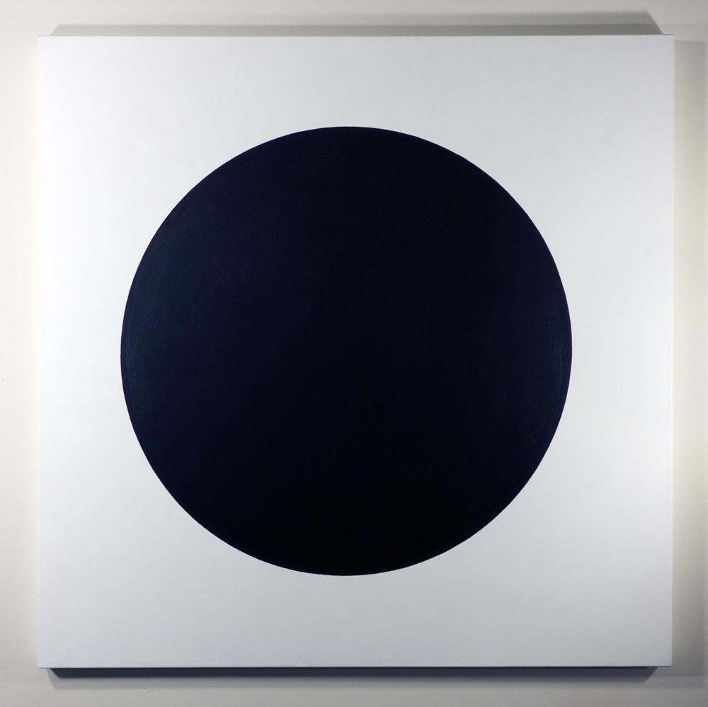 Tom Loveday,  Portable Hole Closeup , 2015, acrylic on canvas, 107 x 107 cm