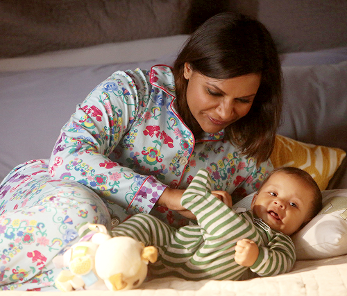 "People who clamored for an abortion on ""The Mindy Project"": LOOK AT THIS CUTE BABY. Credit: Hulu/NBC via Tumblr"