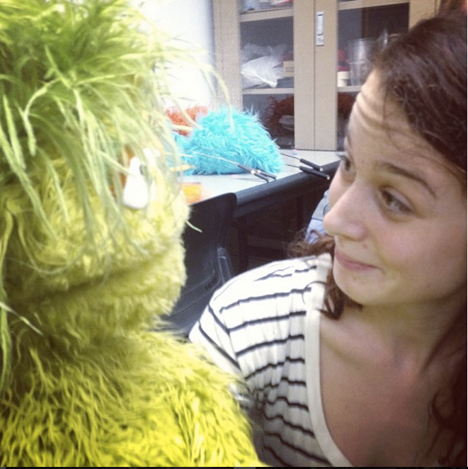 Meeting a muppet!