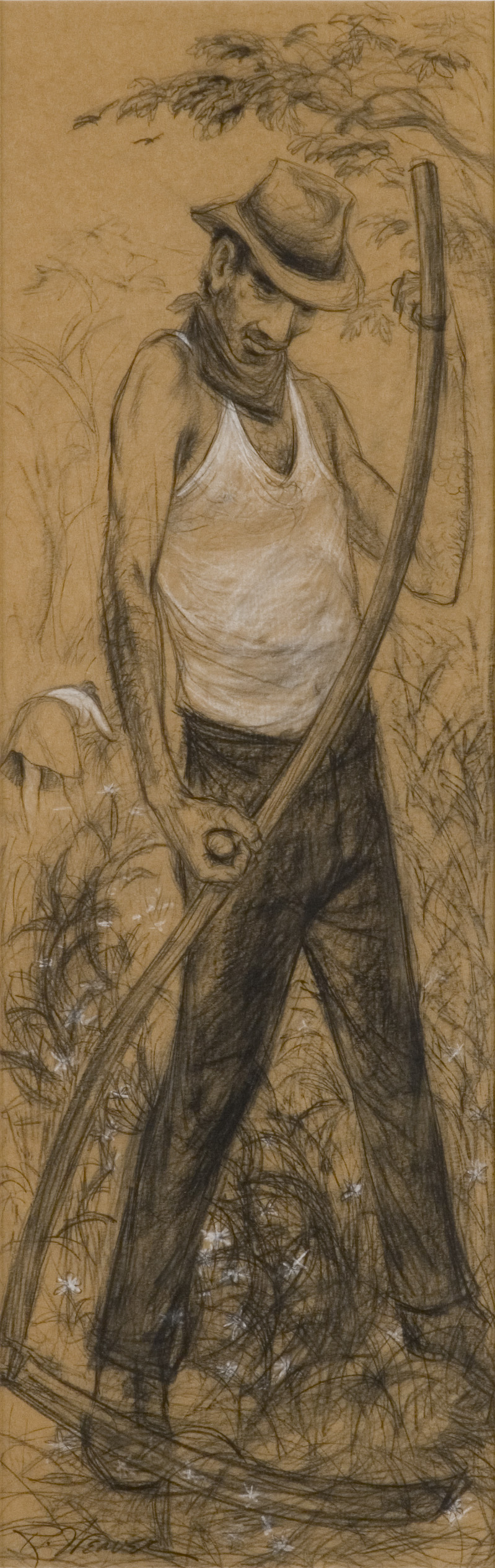 """Man with Scythe"" c. 1950*"