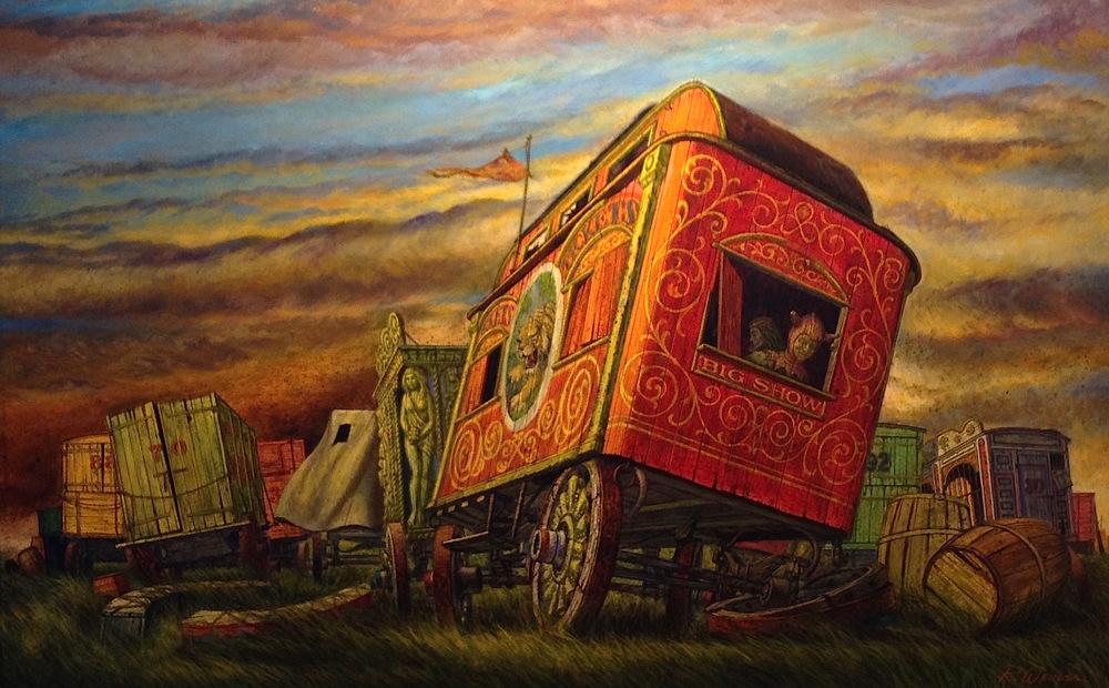 """Red Wagon"" c. 1970"
