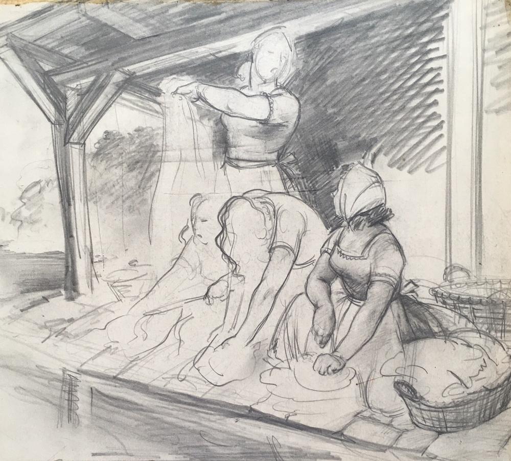 """Women Washing"" c. 1939*"
