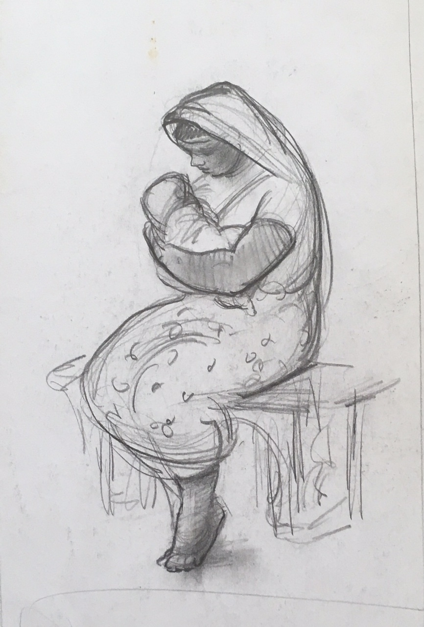 """""""Mexican Mother"""" (Madonna and Child) c. 1939*"""