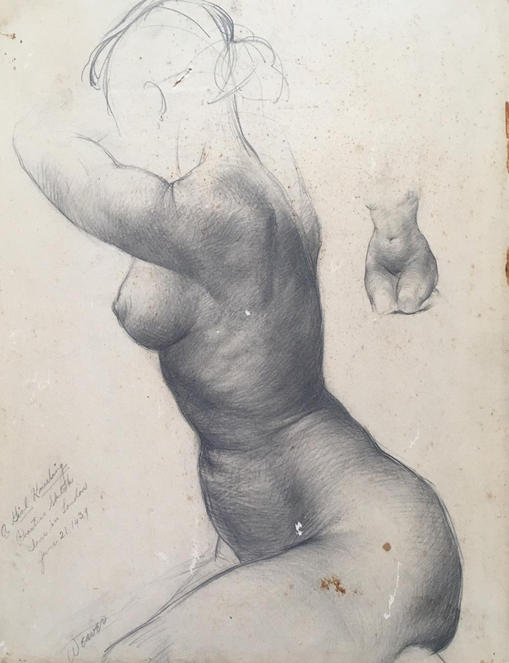"""""""Girl Kneeling"""" 1939*"""