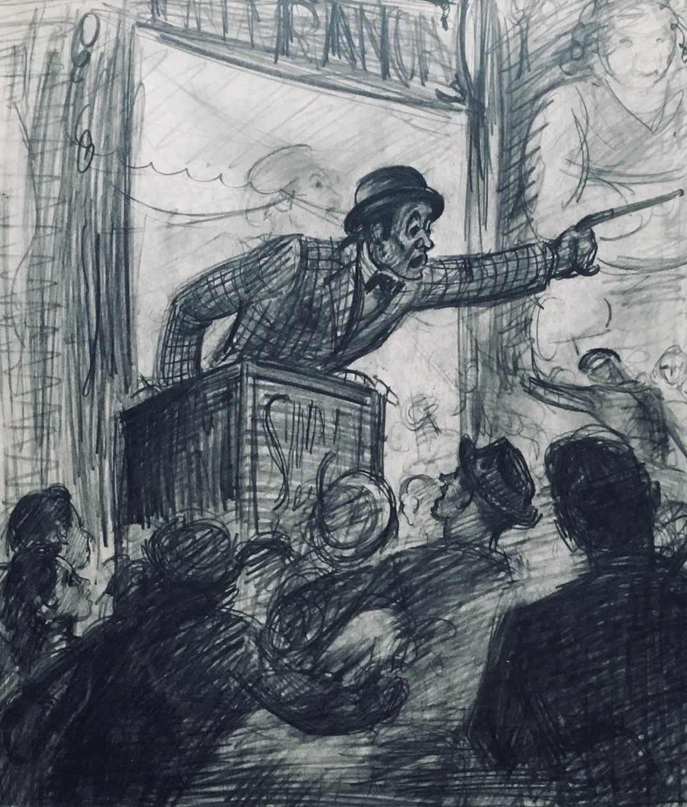 """The Barker"" c. 1940*"