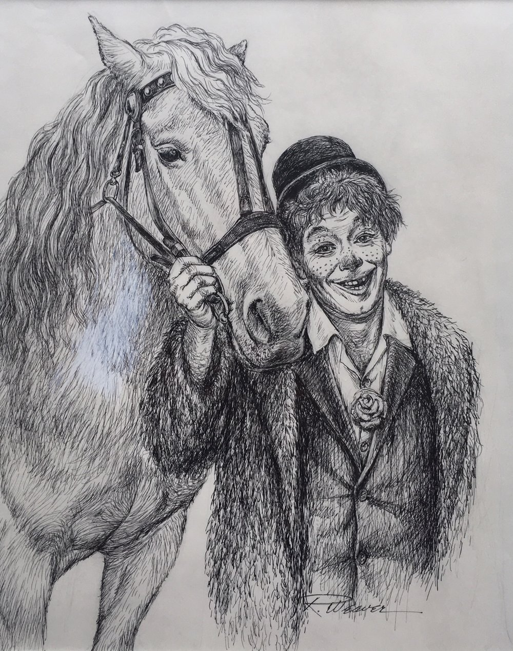 """""""Poodles and His Horse"""" c. 1980 *"""