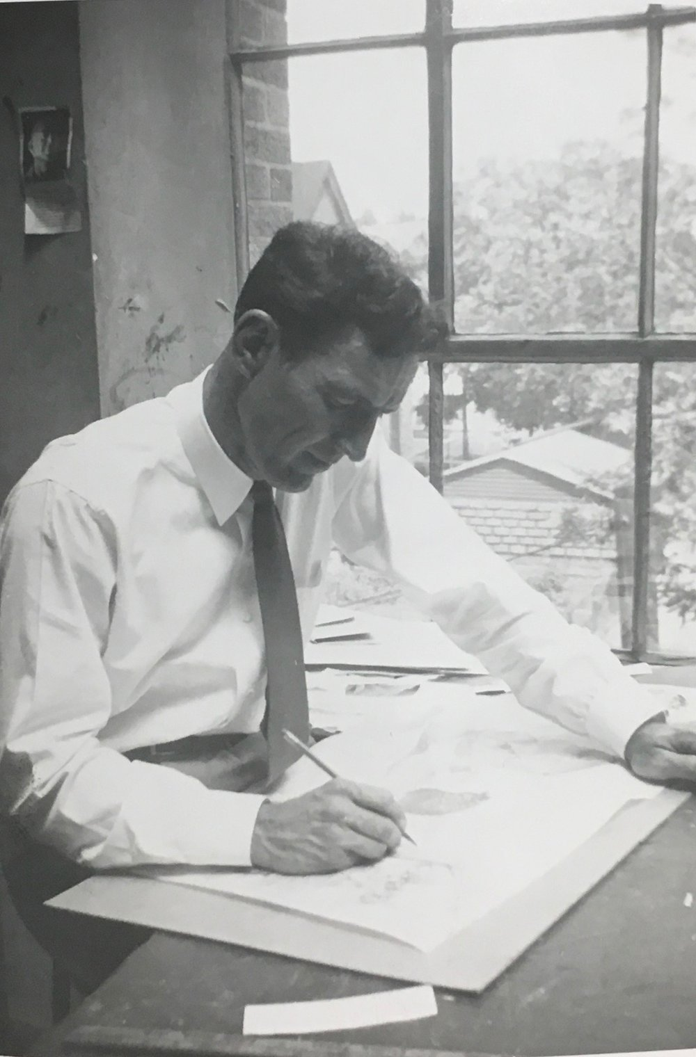REW instructing at John Herron, 1955