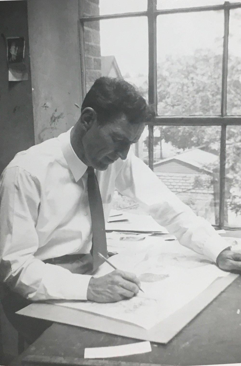 REW instructing at John Herron, 1955