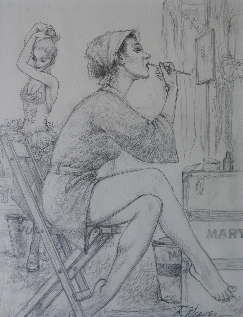 """Two Girls In Dressing Room"" c. 1980"