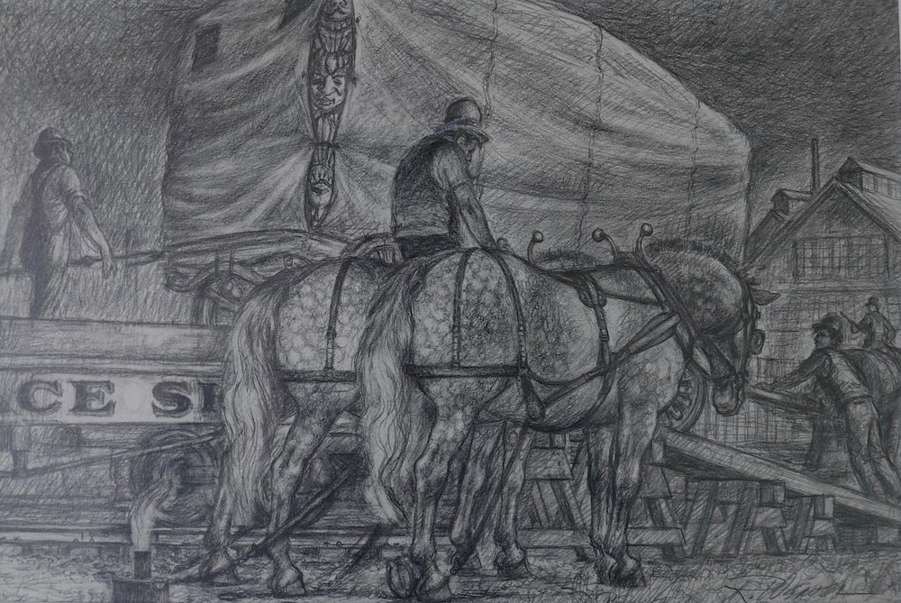 """Unloading the Train"" c. 1980"